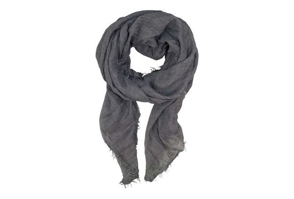 Black Colour scarf grey tencel