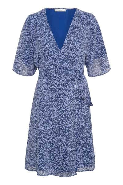 Gestuz Clover Wrap Dress Blue