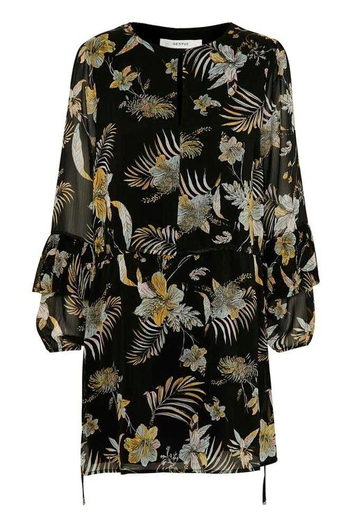 Gestuz Maui Dress Black Palm
