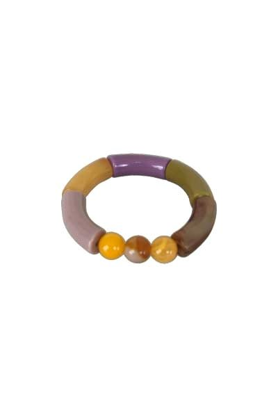 Black Colour Fenja Tube Bracelet Mustard