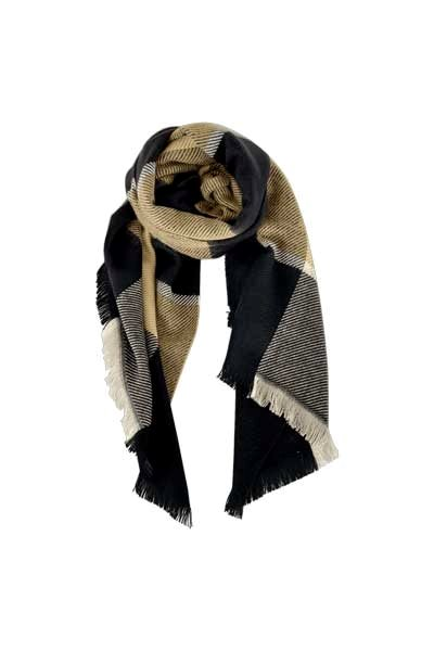 Black Colour Lena Ternet Scarf Sand