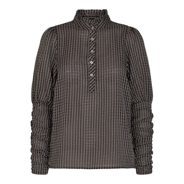 Co Couture Clear Check Puff Shirt