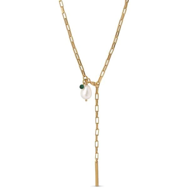 Enamel Azra necklace gold
