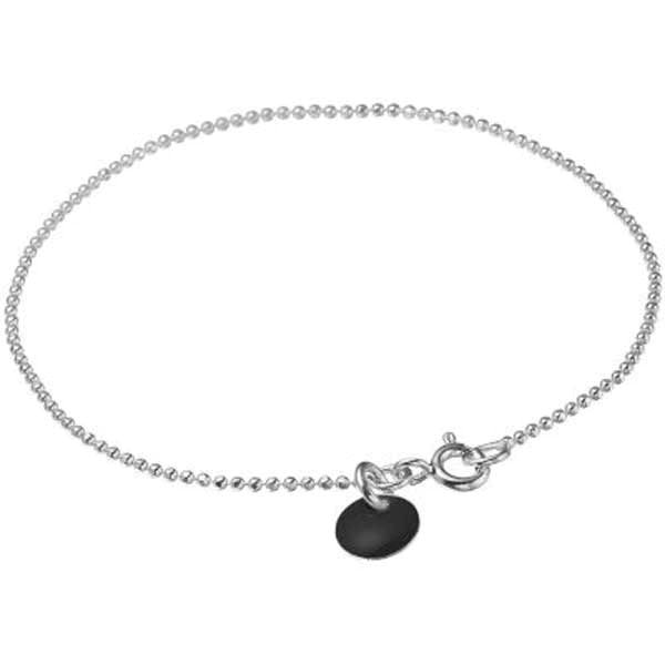 Enamel Bracelet Ball Chain Black