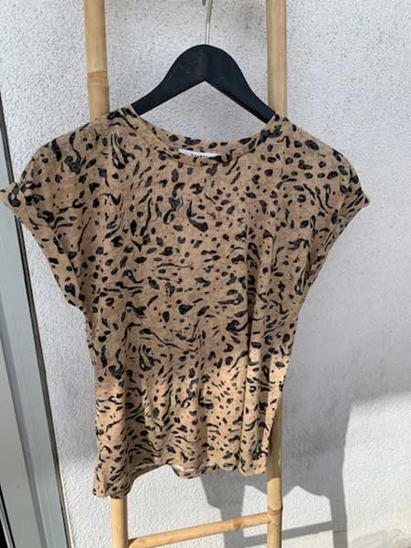 Garcia E10202 tshirt tan black