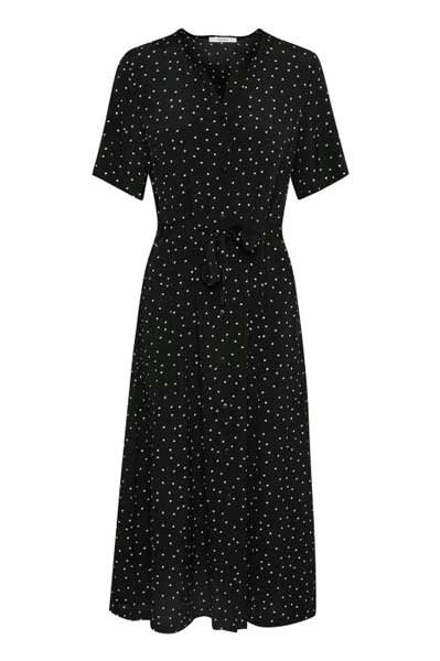 Gestuz Harper Midi Dress Black/Purple Dot
