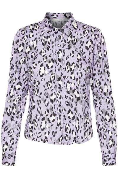 Gestuz Leopa Shirt Purple Leopard