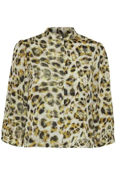Gestuz Tjekke Blouse Yellow Animal