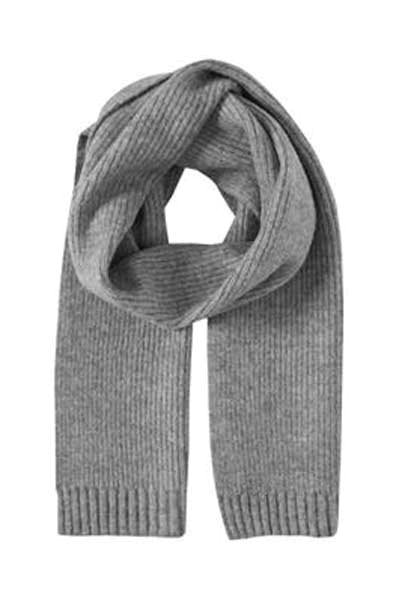 Ichi Aivo scarf light grey melange