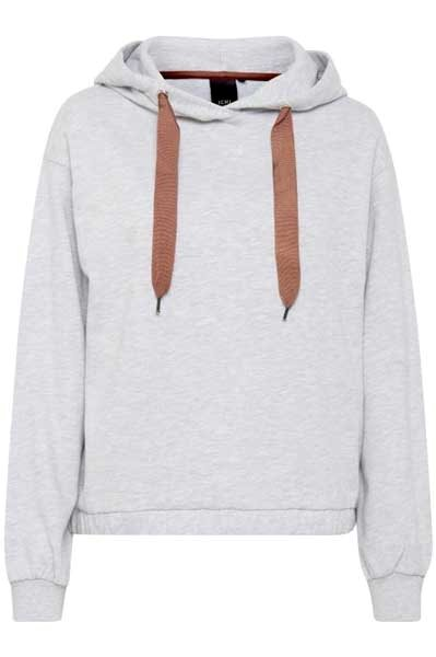 Ichi Box Sweat Grey Melange