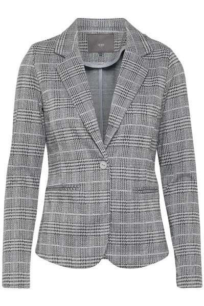 Ichi Kate Check Blazer Black