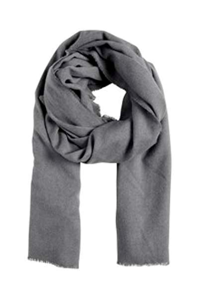 Ichi Kelly Scarf Dark Grey Mel