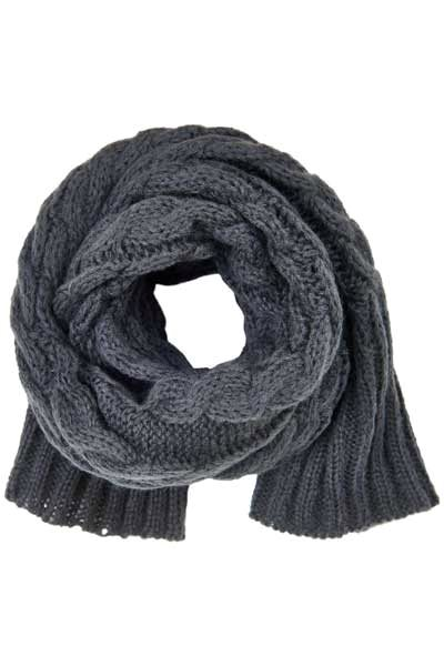 Ichi Light Scarf Dark Grey Mel