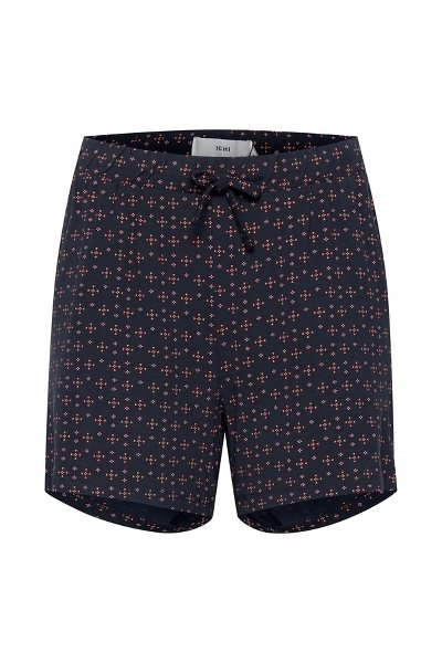 Ichi Lisa Shorts Navy Print