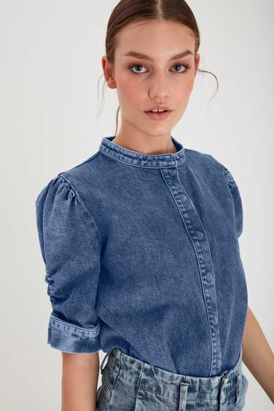 Ichi Omega denim shirt medium blue