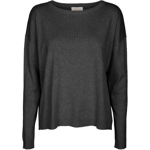 Minus Elne knit dark grey melange