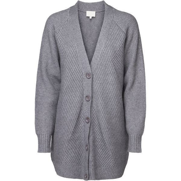 Minus Marinda Knit Cardigan Steel Grey