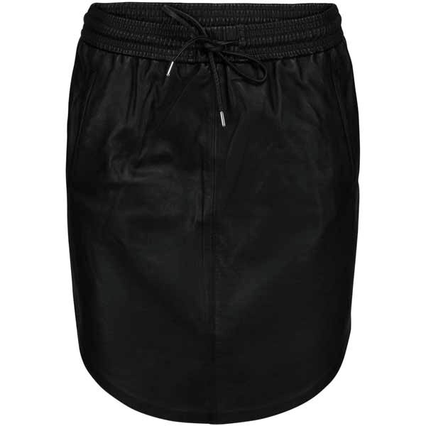 Minus Marine leather skirt black