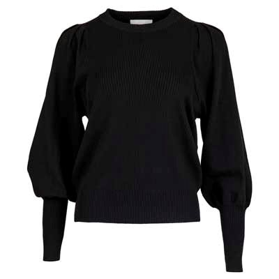 Neo Noir Kelsey soft knit blouse black