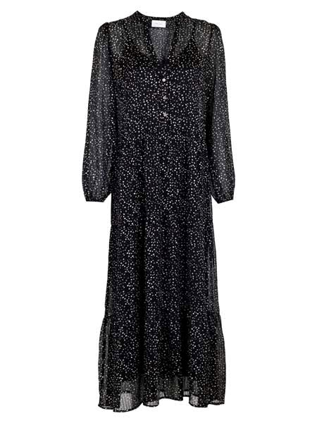 Neo Noir Nobis sparkle dress black silver