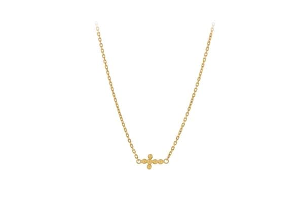 Pernille Corydon Cross Necklace Gold