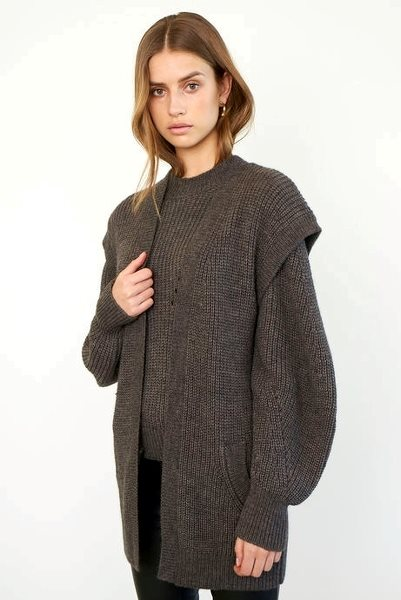Second Female Blanche Knit Waistcoat Black Olive